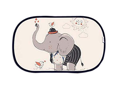 Lovely Cartoon Car Curtains Sunshades Sunscreen Insulation Sunshades, Elephant
