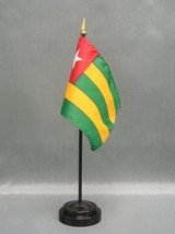 "Togo 4X6"" Table Top Flag W/ Base New Desk Top Handheld Stick Flag - $4.95"