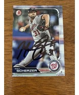 Max Scherzer Washington Nationals Hand Signed Autograph Chrome BASEBALL ... - $37.25