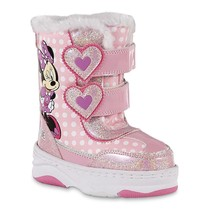 NEW NWT Toddler Girls Disney Minnie Mouse Snow Boots Size 9 10 11 or 12 - £20.23 GBP+
