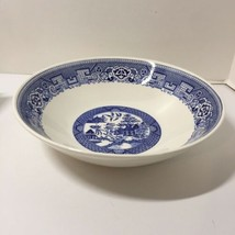 "Round vegetable Bowl Blue Willow Homer Laughlin 8.75"" H62N4 - $12.59"