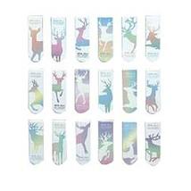 18Pcs Colorful Elk Magnet Bookmarks Paper Clips Book Signs