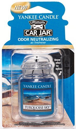 Yankee Candle Car Jar Ultimate Hanging Air Freshener, Turquoise Sky