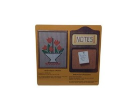 Vintage Creative Circle Kit 6084 Wood Note to Remember Embroidery 1984 K... - $25.47