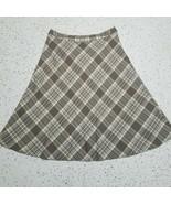 Jones Wear Long Skirt ~ Sz 16 ~ Gray ~ Plaid ~ Lined ~ Stretch - $24.74