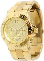NEW Michael Kors Women's MK5463 Gold Aluminum Quartz Watch with Gold Dial - $130.68