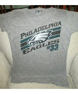 Philadelphia Eagles NFL Apparel Women's Gray V-Neck Shirt-Large - $21.73