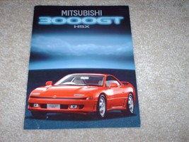 1990 Mitsubishi 3000GT HSX Sales Brochure Red Sports Car - $12.59