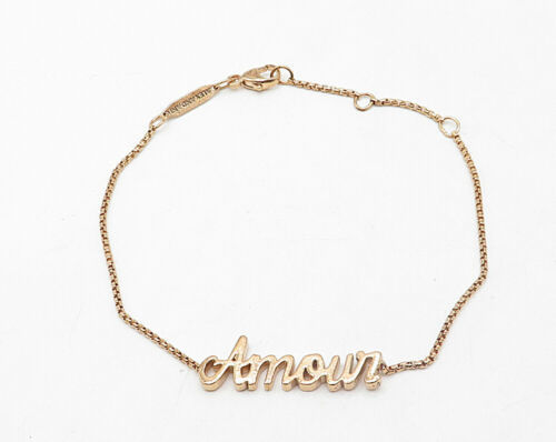 ALEX & ANI  925 Sterling Silver - Rose Gold Plated Amour Chain Bracelet - B4203