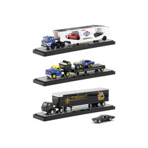 Auto Haulers Release 34, 3 Trucks Set 1/64 Diecast Models by M2 Machines... - $88.81