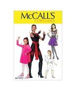 McCall's M7492 Girl's Skeleton, Hero, Ninja, and Fighter Costume Sewing Pattern, - $2.93