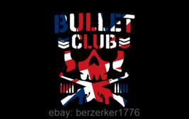 Bullet Club UK Wrestling 3'x5' black flag NJPW WCW ROH WWE USA Seller shipper - $25.00