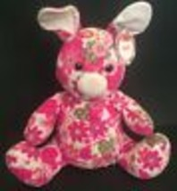 Melissa And Doug April Bunny Rabbit Plush Pink Floral Hearts Bright Colo... - $14.84