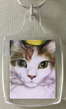 Small Cat Art Keychain - Wilson - $6.00