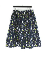 XL - Frock Shop Womens Cute Black Retro Puppy Print Midi Cotton Skirt 11... - $30.00
