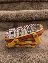 LONGABERGER 1996  Mini Vegetable All American Summertime Basket, Divider... - $25.00