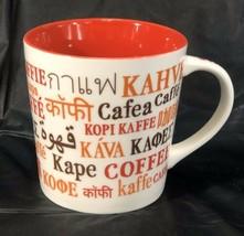 Starbucks Coffee Mug Multi language Kaffe Kava Cafea 2008 Red 16oz AL001 - $24.08