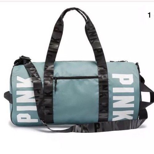 5e375eb317b0 Victoria Secret PINK Turquoise Gym Duffle and 38 similar items. S l1600