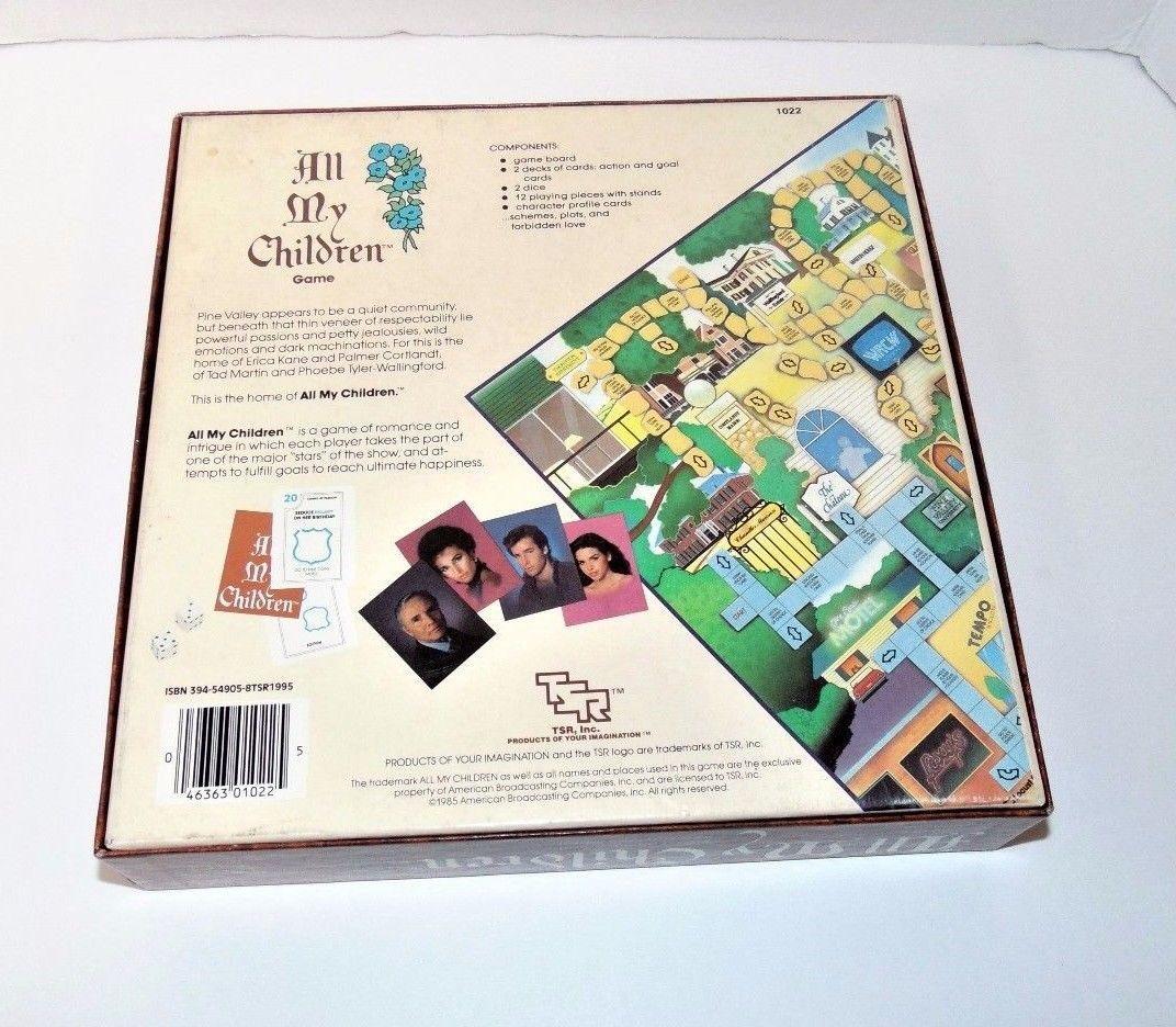 vintage 1985 all my children tv show board game complete theme party vintage manufacture. Black Bedroom Furniture Sets. Home Design Ideas