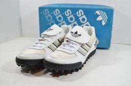 Vintage Anni 80 Nuova Adidas Uomo 6.5 Sudden Impact Calcio Turf Tacchetti Bianco - $53.44