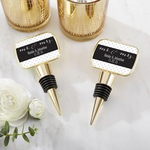 Personalized Gold Bottle Stopper - Mr. & Mrs.(24 Pcs)  - $89.99