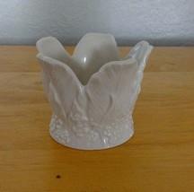 Lenox Votive Tealight Holder Flower Floral White - $7.66