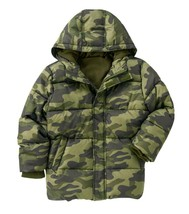 Crazy 8 by Gymboree Boys Hooded Camouflage Puffer Jacket in Olive Green,... - $29.93
