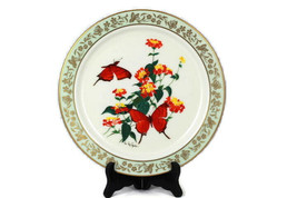 """Set of 2 Lenox Butterflies & Flowers Limited Ed Porcelain Collector Plate 10.5"""" - $19.79"""