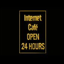 130050B Internet Cafe 24 Hours Coffee Bar Public Technique Screen LED Light Sign - $18.00