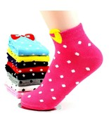 Buy5} Womens Candy Colors 3DBow Polka Dot Ankle Assorted Patterns Gifts 6-9 - $5.95