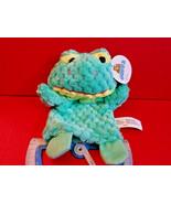 Green Frog Hand Puppet Goffa Pastel Handpuppet Pretend Play Soft Plush T... - $4.74