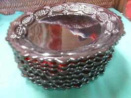 "Great AVON ""Ruby Red"" CAPE COD.....Set of 8 Bread-Salad-Dessert Plates 7"" - $44.14"