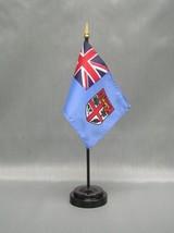 "Fiji 4X6"" Table Top Flag W/ Base New Desk Top Handheld Stick Flag - $4.95"