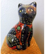 """Vintage Kitty Cat Hand Painted Pottery Mexico? 4"""" - $15.84"""