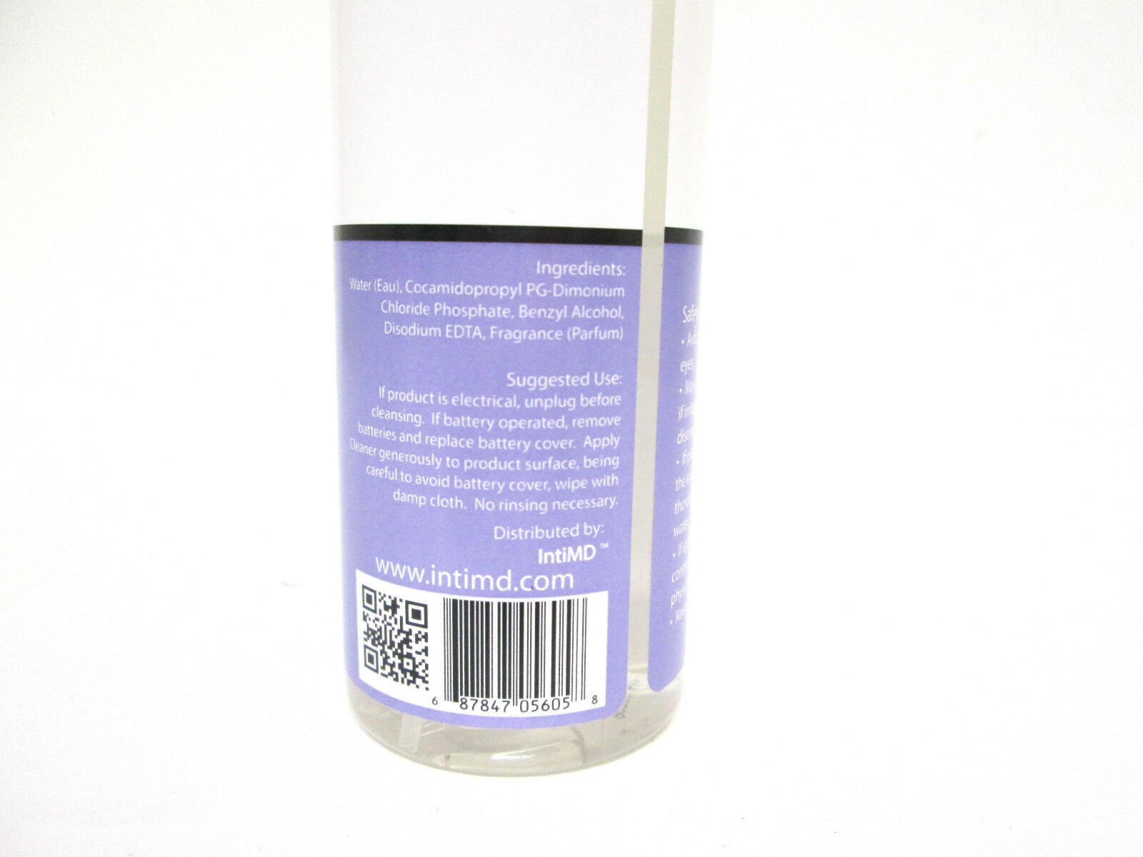 IntiMD Anti-Bacterial Cleaner Soap-Free Formula - 8 oz [HB-A-I] image 2