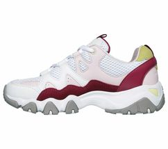 Skechers D'lites 2 shoes White Pink Women Sport Comfort Casual Memory Foam 12937 image 3