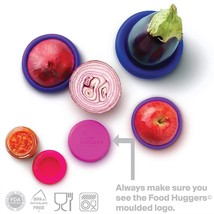 Food Huggers Reusable Silicone Food Savers Set of Five (Bright Berry) - €13,02 EUR