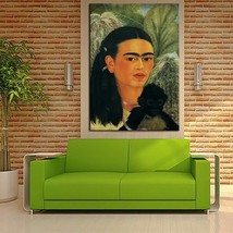 "Frida Kahlo ""Fulang-Chang and I"" HD print on canvas wall picture 36x24"" - $27.71"