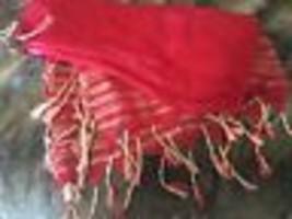 Vince Camuto Red Fringe Sparkle Scarf - $35.64