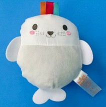 Bright Starts White Seal Sensory Plush Stuffed Animal Lovey Baby Crinkle Toy - $34.64
