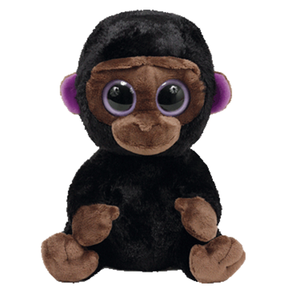 "Primary image for Pyoopeo Ty Beanie Boos 6"" 15cm Romeo the Gorilla Plush Regular Soft Big eyed Stu"
