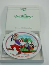 Schmid Walt Disney Character 1980 Christmas Plate w/Box Goofy Mickey Donald - $15.88