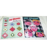 2 Vintage Pot Holders, Hot Plate Covers Pattern Books-Star, Coats & Clark - $8.00