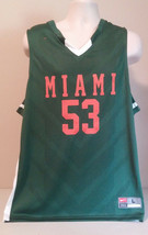 MiaMi Hurricanes Basketballl Jersey Men's Large W/Defect - $31.49
