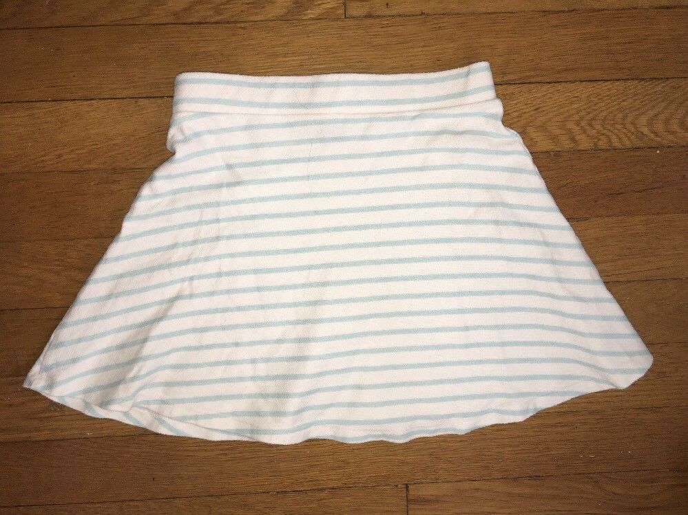 ! Gap Kids blue white striped knit skirt size small 6 - 7 girls