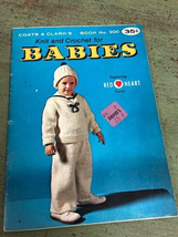 Coats & Clark's Knit And Crochet For Babies Book 200 / 35 Pages 1970 - $9.90