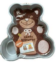 Wilton Vtg 1982 Huggable Teddy Bear Cake Pan With Directions Birthday 50... - $15.21