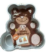 Wilton Vtg 1982 Huggable Teddy Bear Cake Pan With Directions Birthday 50... - $17.09