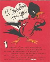 Vintage Valentine Card Crow 1950's American Greetings Verse in Dialect - $8.90