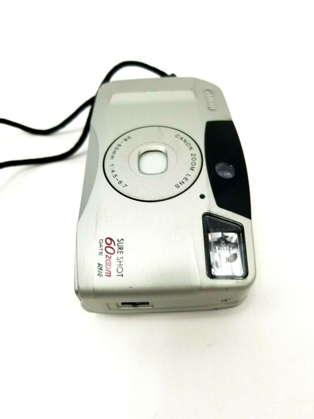 Canon Sure Shot 60 Zoom DATE SAF 35mm Film Camera w/Canon Zoom Lens 38-60mm
